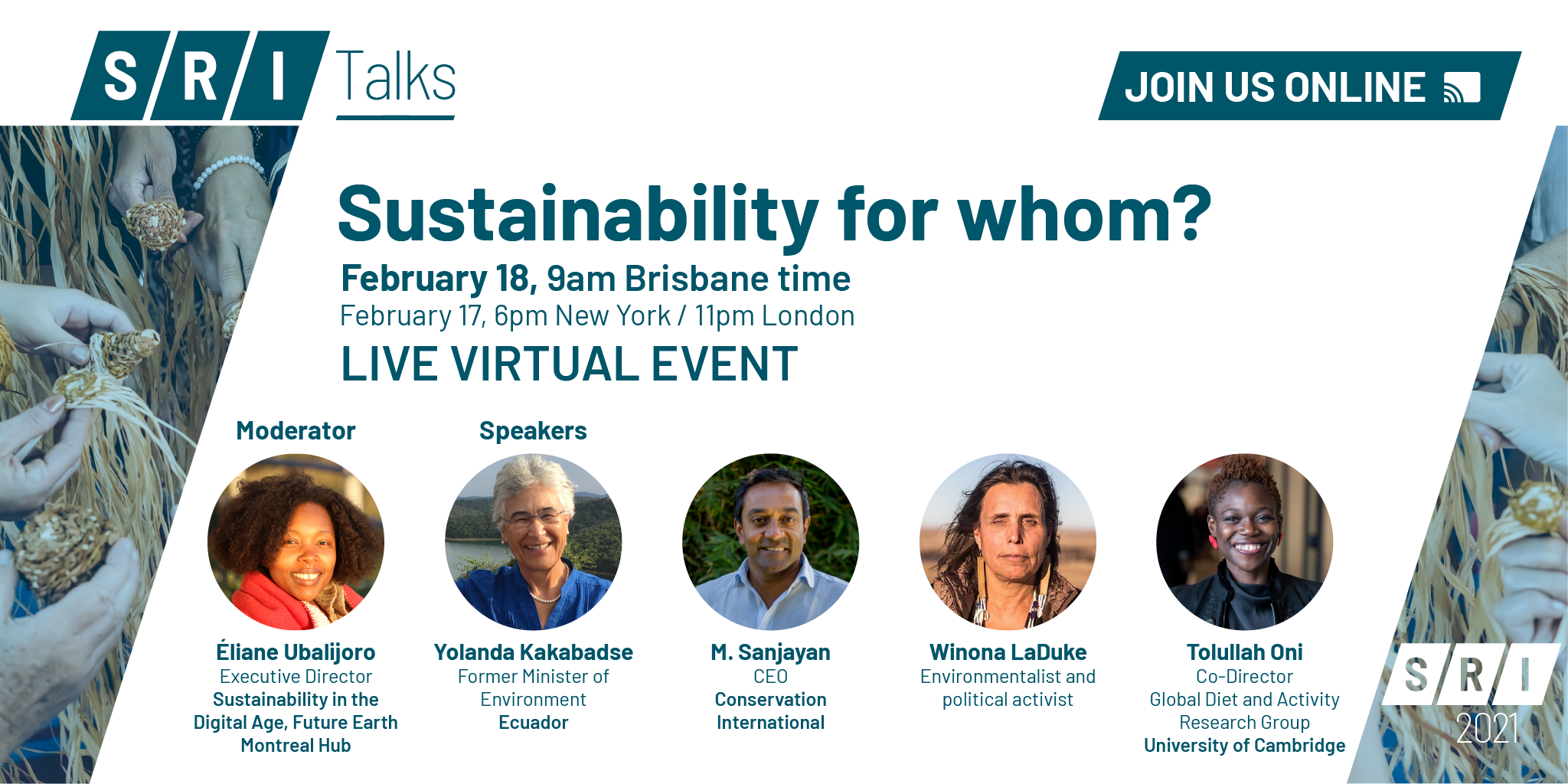 SRI Talks: Sustainability for Whom?